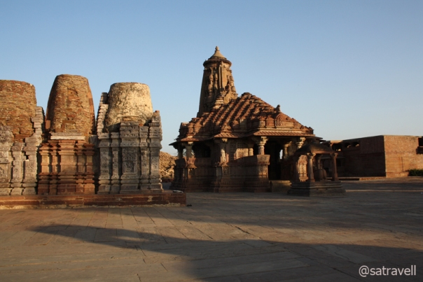 The Shiva temple and other structures inside the main courtyard of the complex