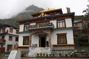 The renovated Kardang Gompa, Keylong. One of the most important Gompas of Lahaul, the 12th century Kardang follows the Drukpa lineage