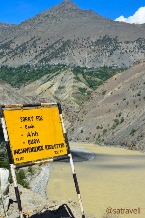 Dotting the entire road-network, managed by the BRO under different projects, in the Indian trans-Himalayan region, the amusing signboards are actually meant to caution the drivers
