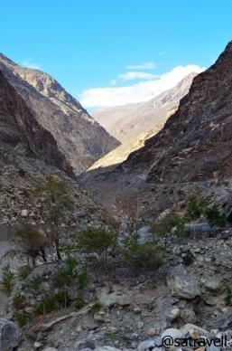 The Sutlej Gorge ahead