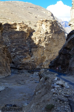 The confluence of Spiti and Sutlej at Khab