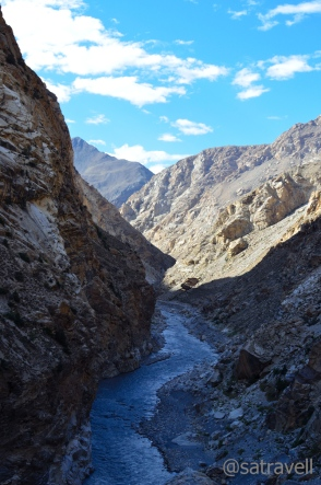 The Spiti Gorge ahead