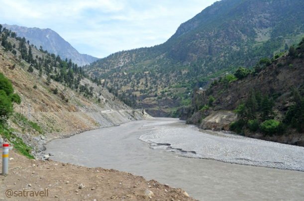 Nearing Peo, the Sutlej mellowed down from its monstrous best