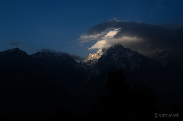 The Kinner Kailash range captured from Kalpa