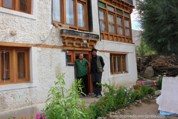 With Dorje at his home in Leh