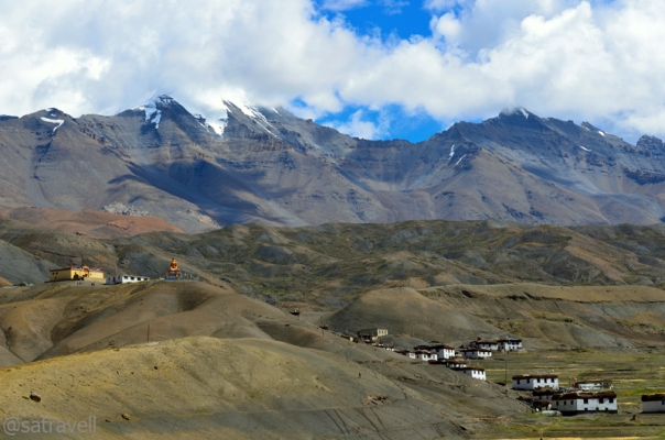 Village Langza and the Gompa