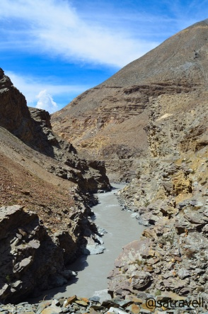 The narrow Spiti valley and the terrain ahead