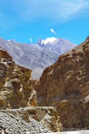 The narrow Spiti Gorge in the Sham region of Spiti