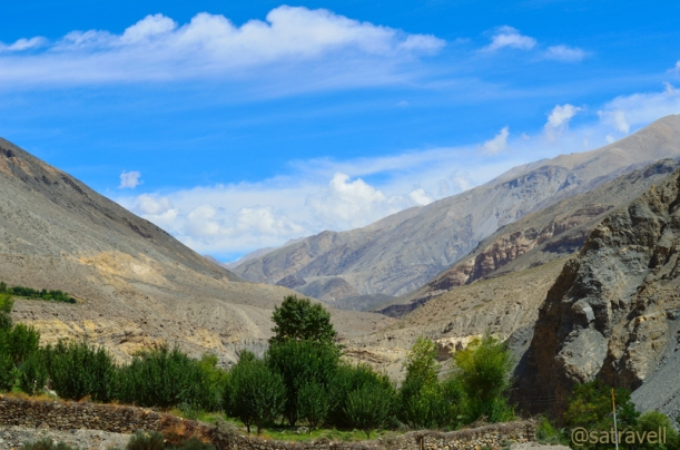 Viewpoint captured from village Chandigarh in the Spiti Valley