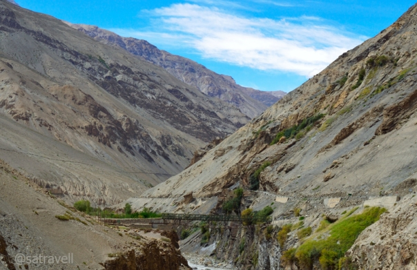 Bridge on the river Spiti at Sumra.