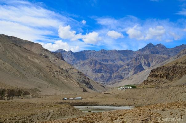 Wide open Spiti Valley in the Sham region