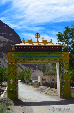 The Welcome Gate to the ancient Tabo monastery complex