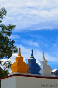 Colourful chortens at Tabo