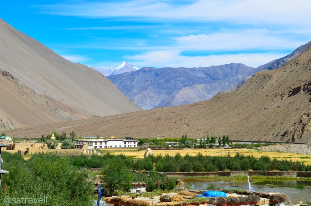 Set in the fields surrounded by Poplars, the ancient Gompa is also a world heritage site declared by the UNESCO