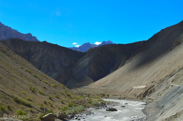 A narrow portion of Spiti Valley ahead.