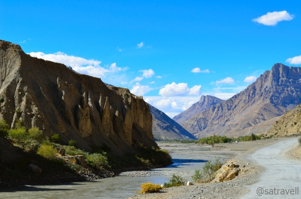 Approaching the widest section of the Spiti Valley