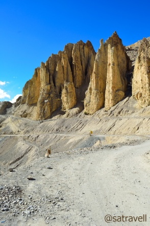Wind-eroded hoodoos