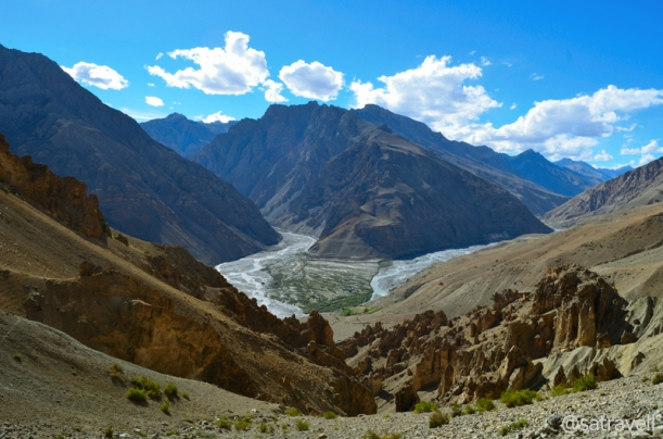 The confluence of Pin and Spiti Rivers; the Lingti is not visible in the frame