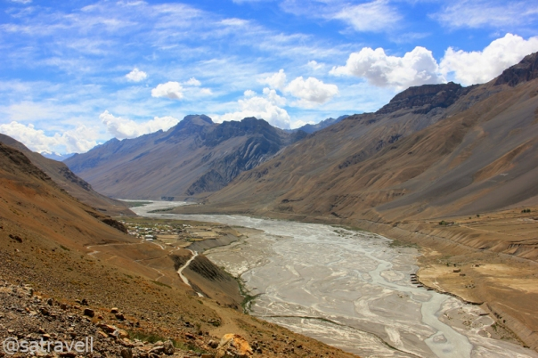 Landscape towards Kaza; captured from slopes.
