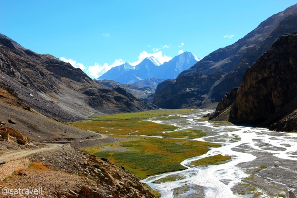 By the infant Spiti River