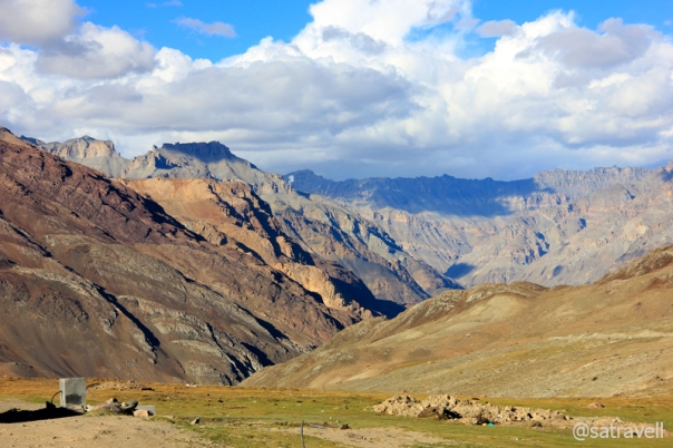 View towards the Spiti Valley