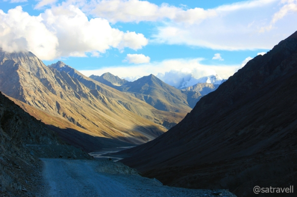 Descending towards Batal in the Chandra Valley of Lahaul