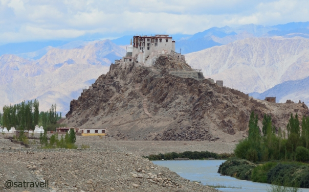 Belonging to Drugpa order, the 17th century Stakna Gompa by the Indus River