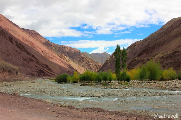A colourful landscape in the intriguingly beautiful Gya Gorge