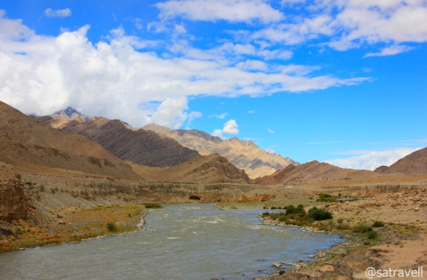 The mighty Indus River near Upshi