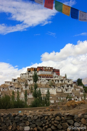 Established in 15th century, the Thikse Gompa observes Gelugpa sect