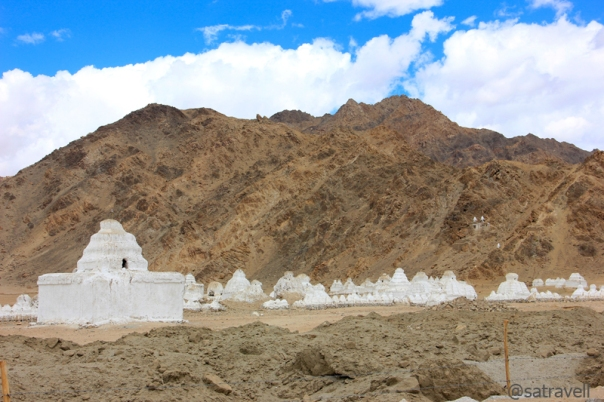Ancient chortens belonging to different periods