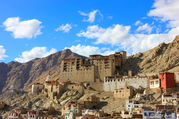 The now deserted nine-storey Leh Palace, built in the 1640s, overlooks the medieval old quarter of Leh Town