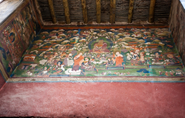 Wall paintings inside the Leh Palace. Photo Sarabjit Lehal