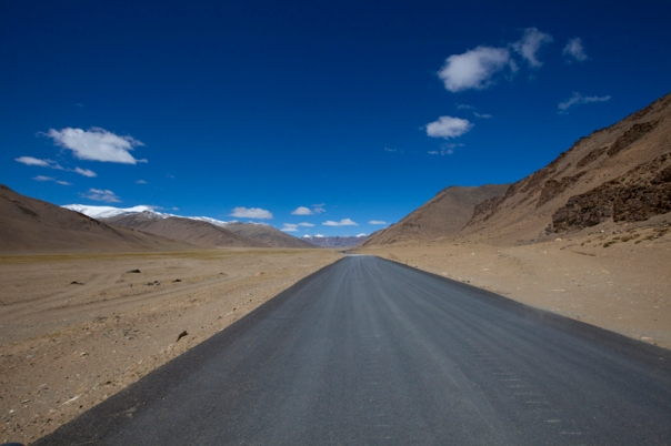 The freshly tarred Manali-Leh Highway through Moray Plains. Photo-credit Sarabjit Lehal
