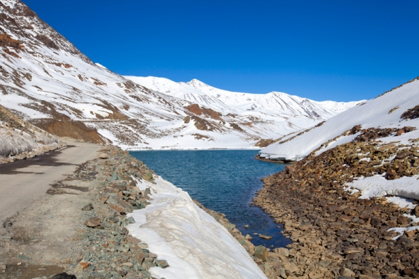 The holy glacial Suraj Taal at 4802 m