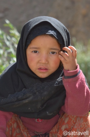 A crossbreed Balti kid in Salaskot village