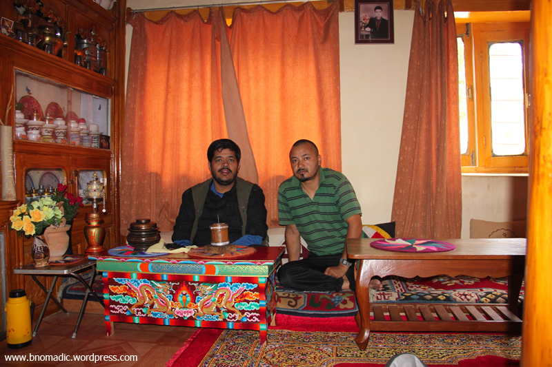 With Dorje at his home in Yurtung, Leh
