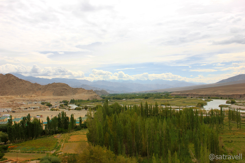Leaving Leh; Greenscape towards Choglamsar
