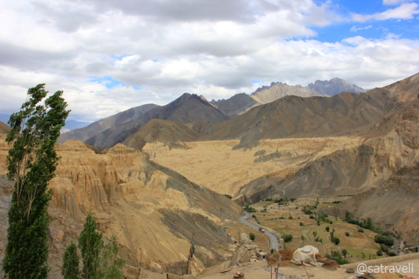 View from the terrace of the Gompa.