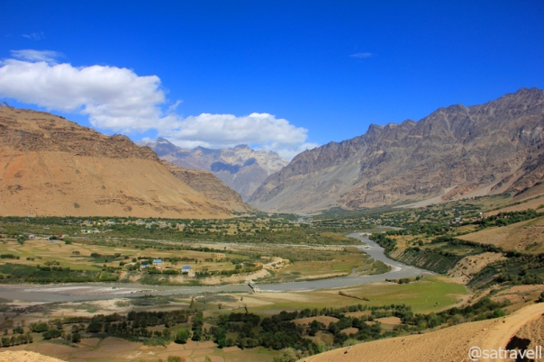 Cultivated fields of Panikhar and view towards Shanshi Nala