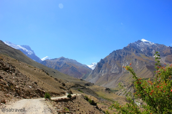 Sloping on Zanskar and looking at the Great Himalayan Range