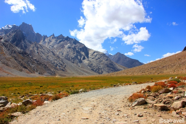 Divide between Zanskar and the Great Himalayan Range