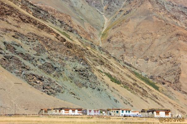 Flat-roofed houses at Rangdum