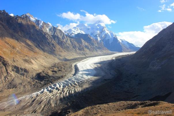 The sliding Darung Drung in Zanskar Region