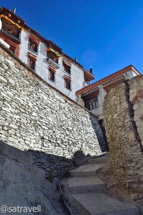 Through the Karsha corridors and stairs