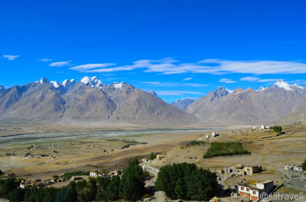 View towards Haptal Tokpo Valley; captured from a point in the monastery complex