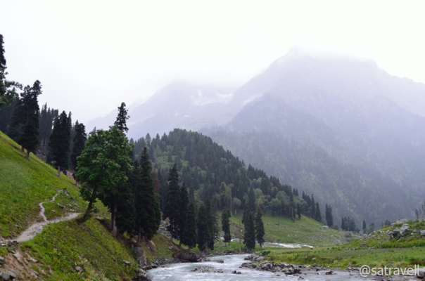View towards the Thajiwas Glacier (4856m) from Sonamarg