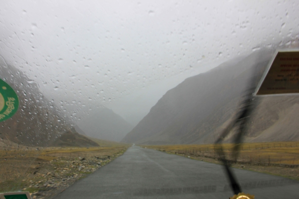 No sooner we left Drass than it started drizzling and the weather became overcast.