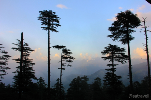 Evening Landscape captured from a point near Patnitop