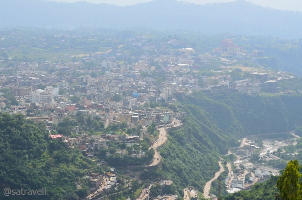 View towards Katra town